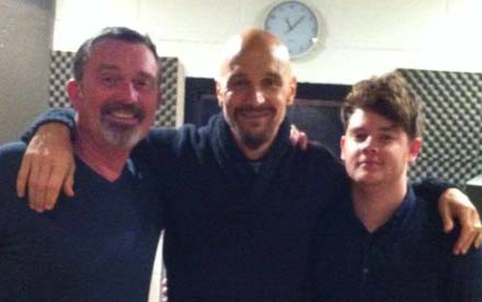 Martin Coogan, Tim Booth (James) & Dean Glover